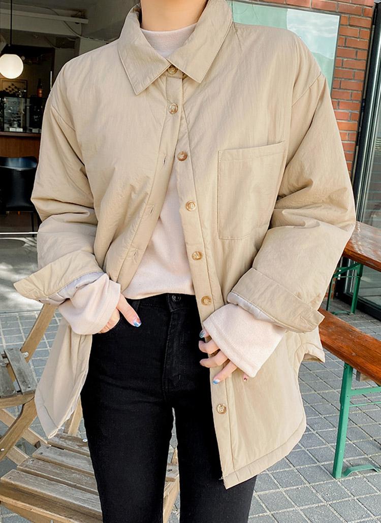 中綿シャツデザインジャケット