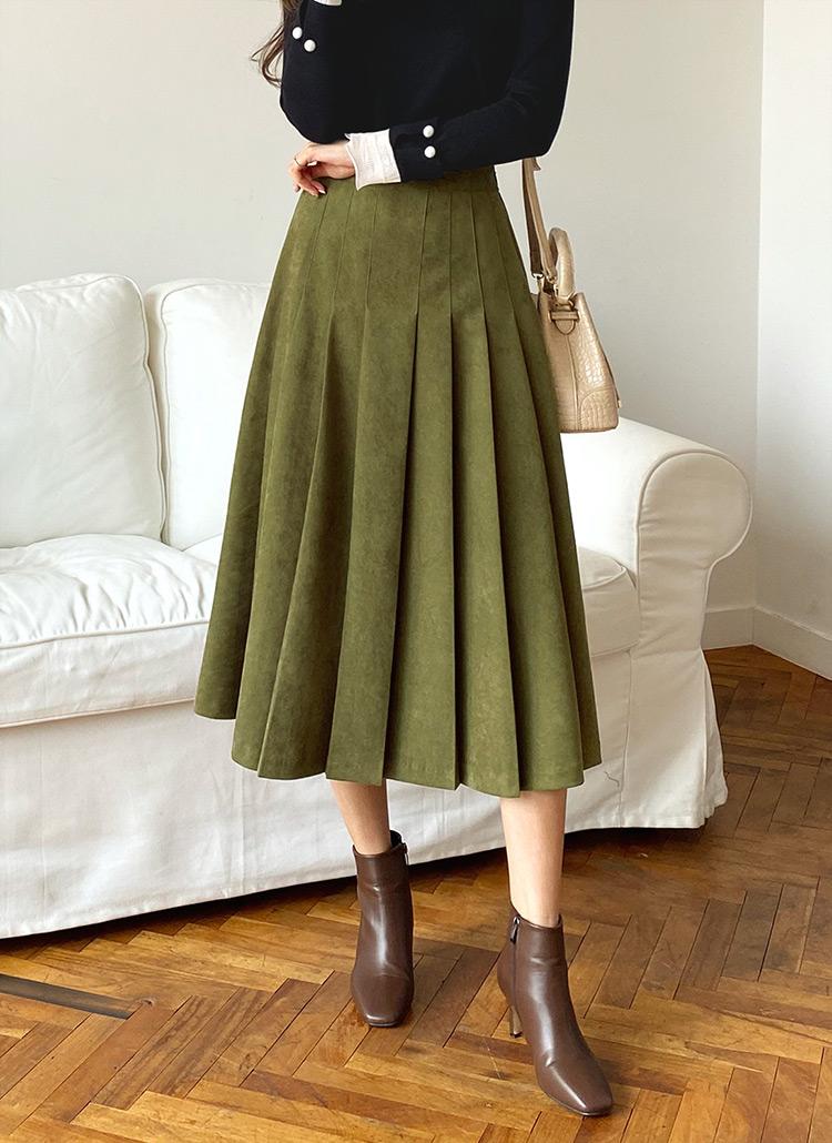 フロントプリーツスカート・全3色