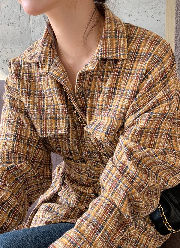 ベルトSETチェックパターンシャツ