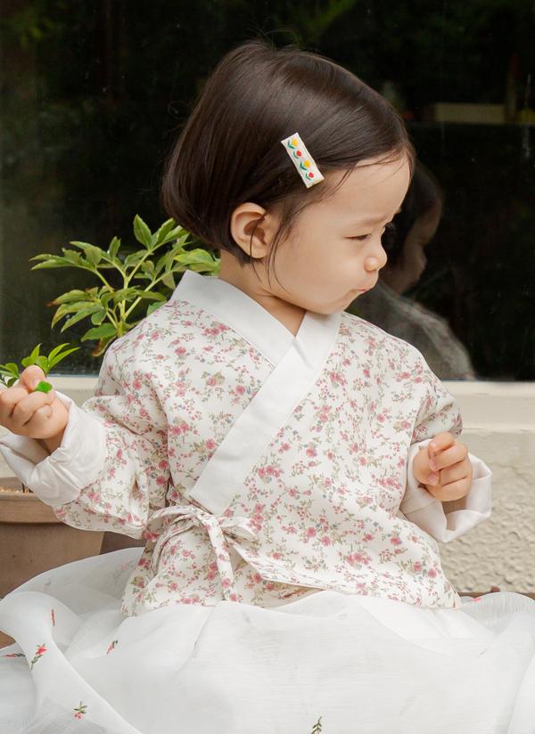 花柄ピンクチョゴリジャケット