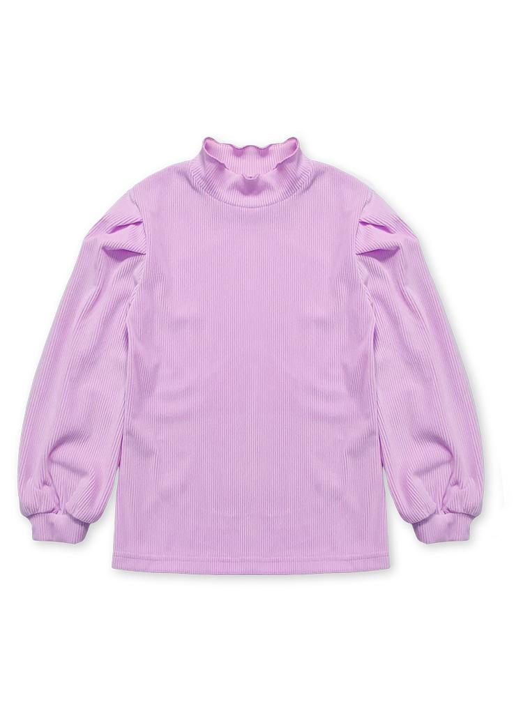 フリルハーフネックTシャツ(purple)