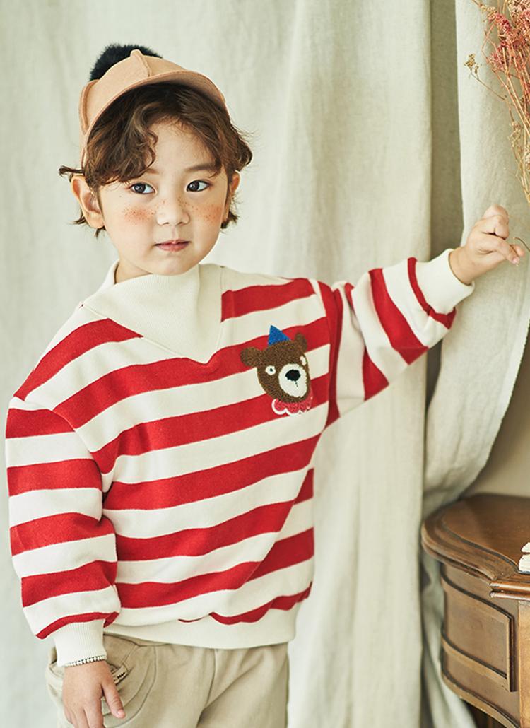 くまポイントボーダーTシャツ(junior)