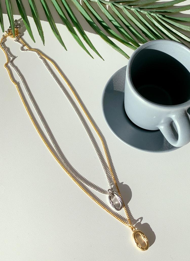 オーバルリングネックレス・全2色