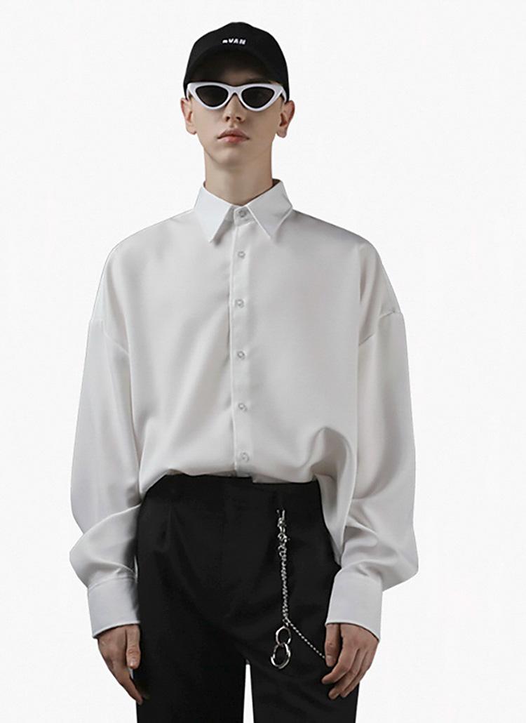 ドロップショルダーシャツ(White)