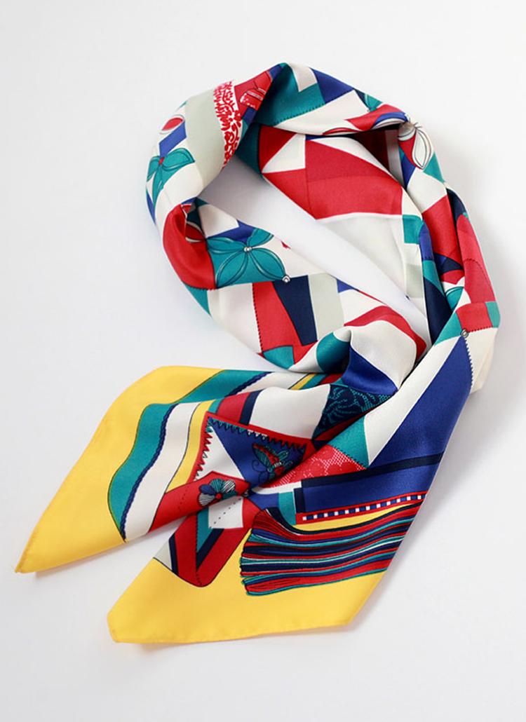 配色スカーフ