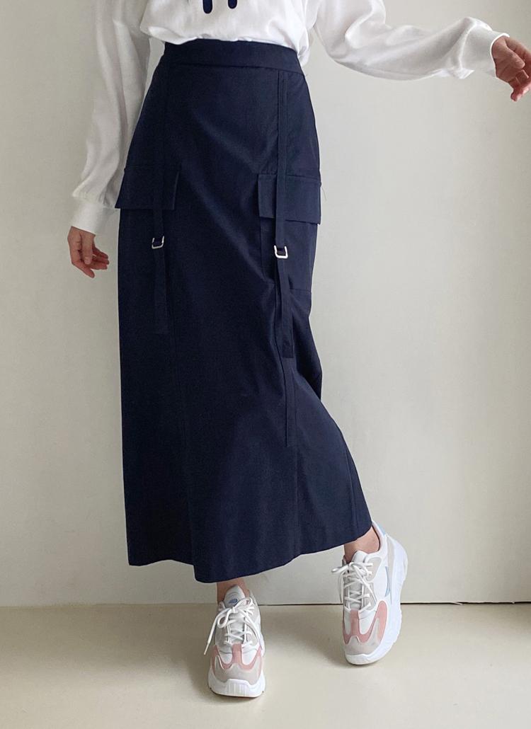 バックルポケットスカート・全3色