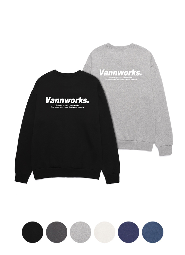Vannworks.レタリングスウェット
