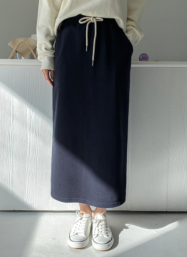 ドローストリングHラインスカート