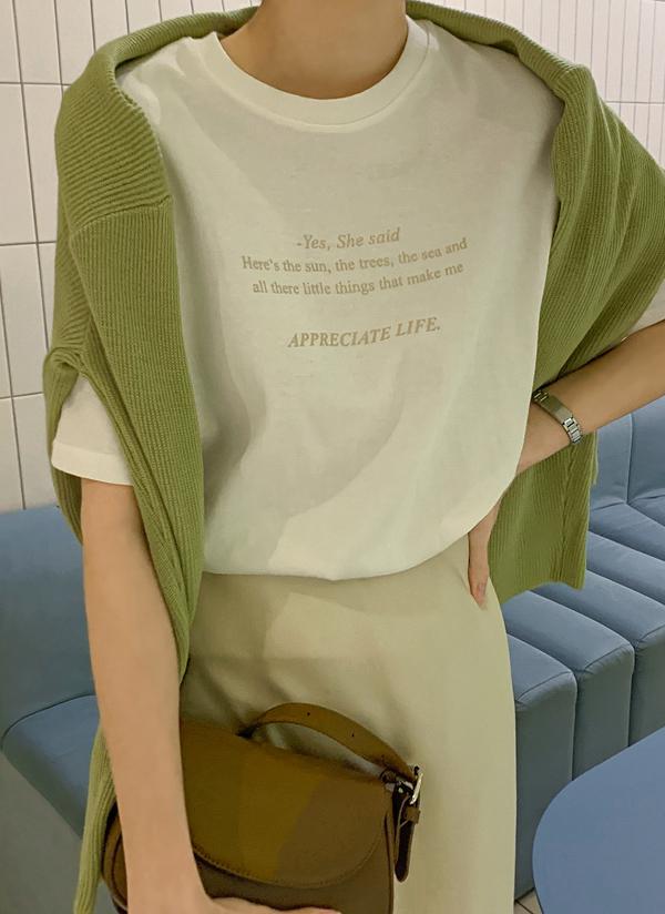 英字レタリングTシャツ
