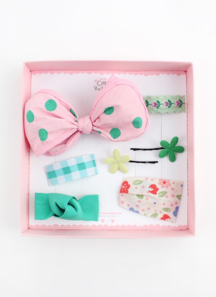 ピンクグリーンヘアピン7SET