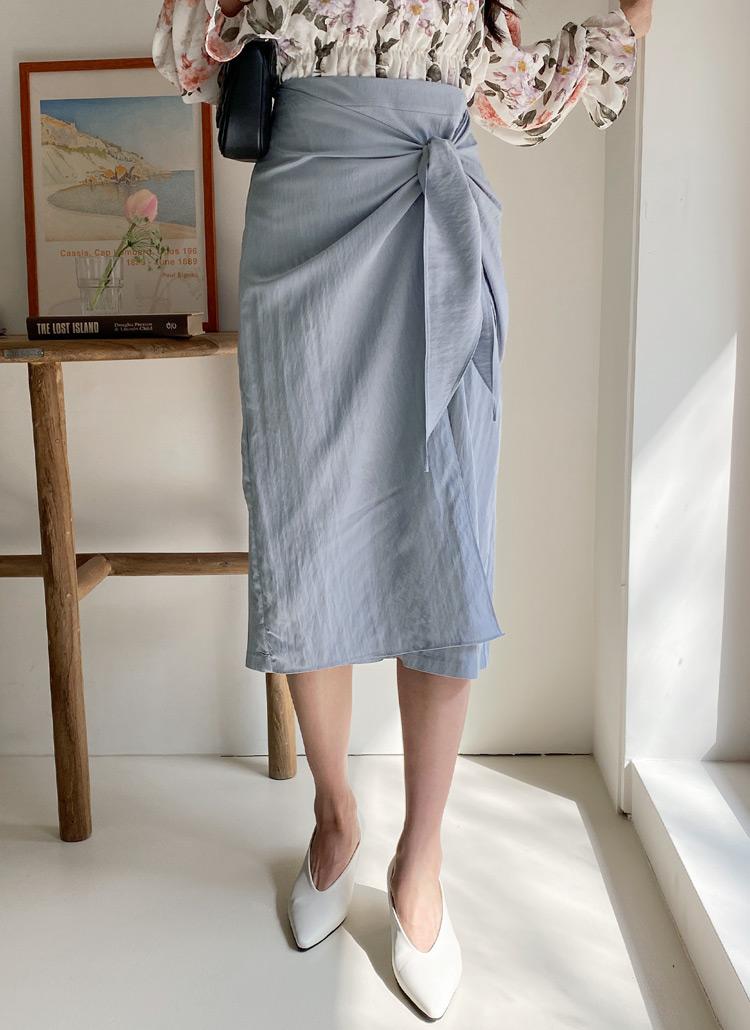 リボンラップスカート・全3色