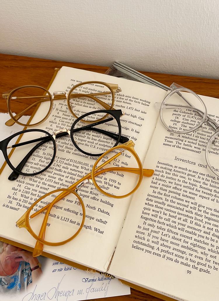 カラーフレームメガネ・全5色