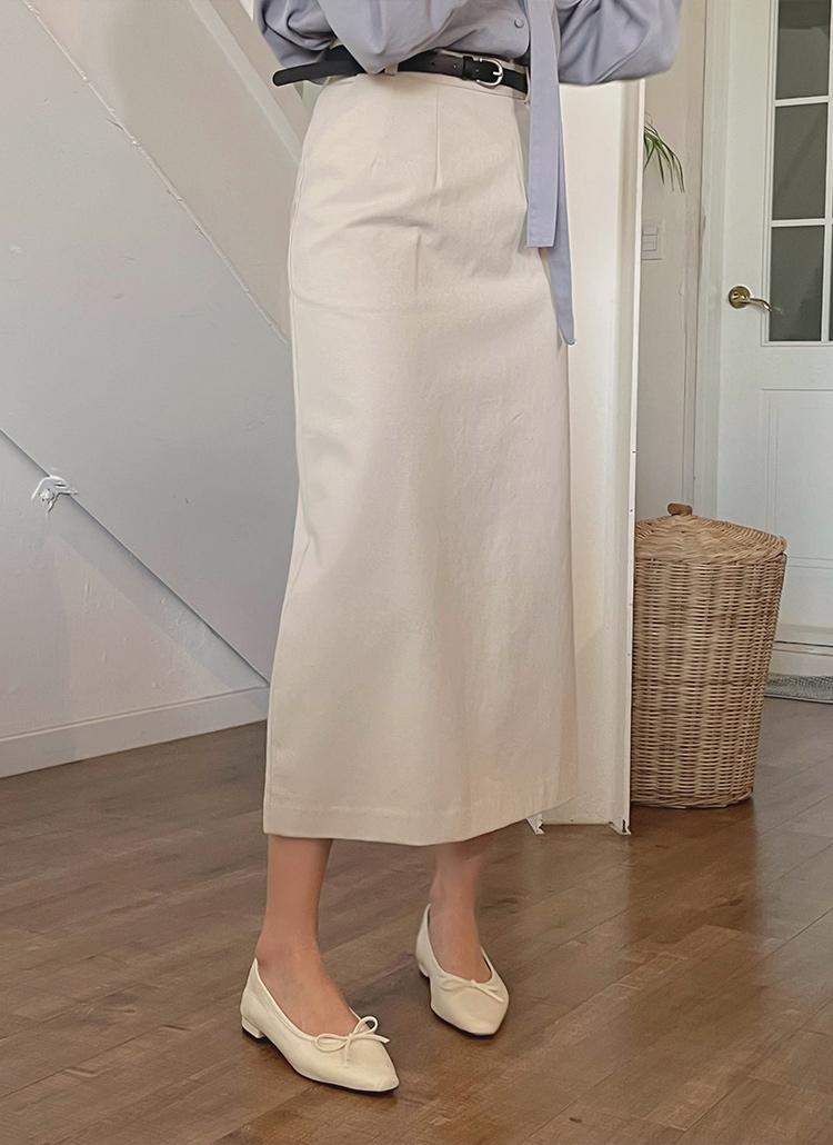 ベルトSETロングHラインスカート