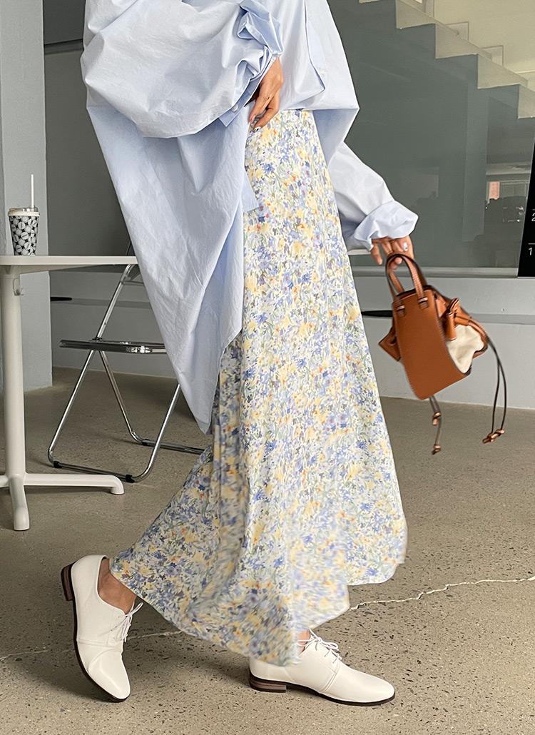 フローラルロングスカート・全2色