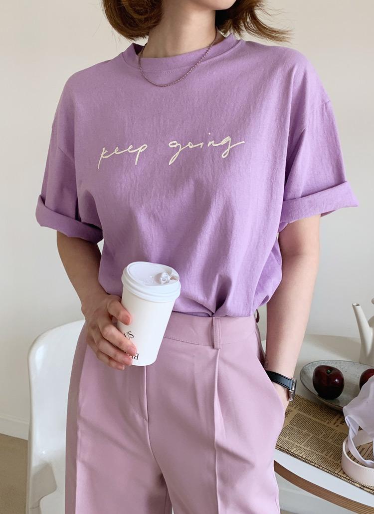 レタリング半袖Tシャツ・全4色