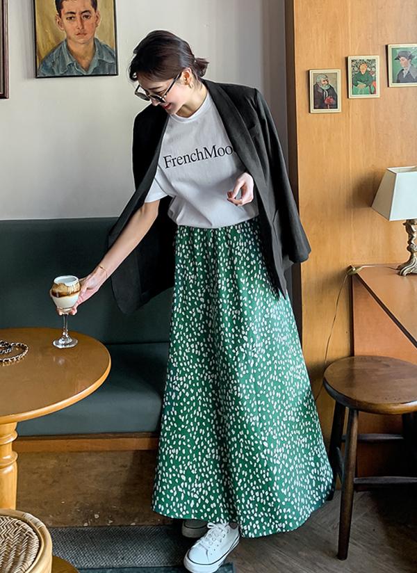 パターンロング丈スカート
