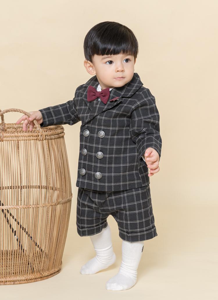 蝶ネクタイ付シャツ&ジャケット&パンツ4SET