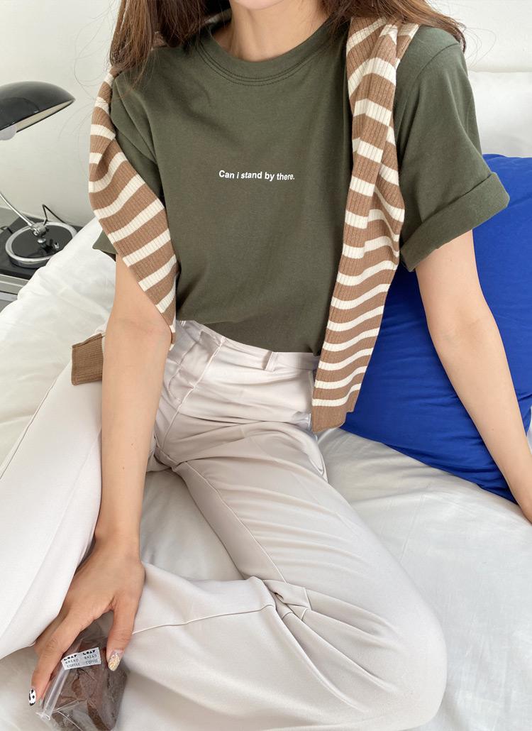 ミニレタリング半袖Tシャツ・全3色