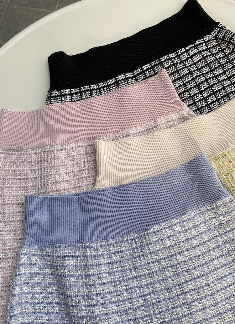 ツイード調ニットスカート・全4色