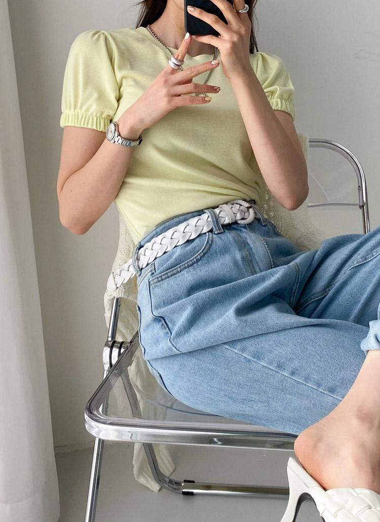 ゴムバンドスリーブ半袖Tシャツ