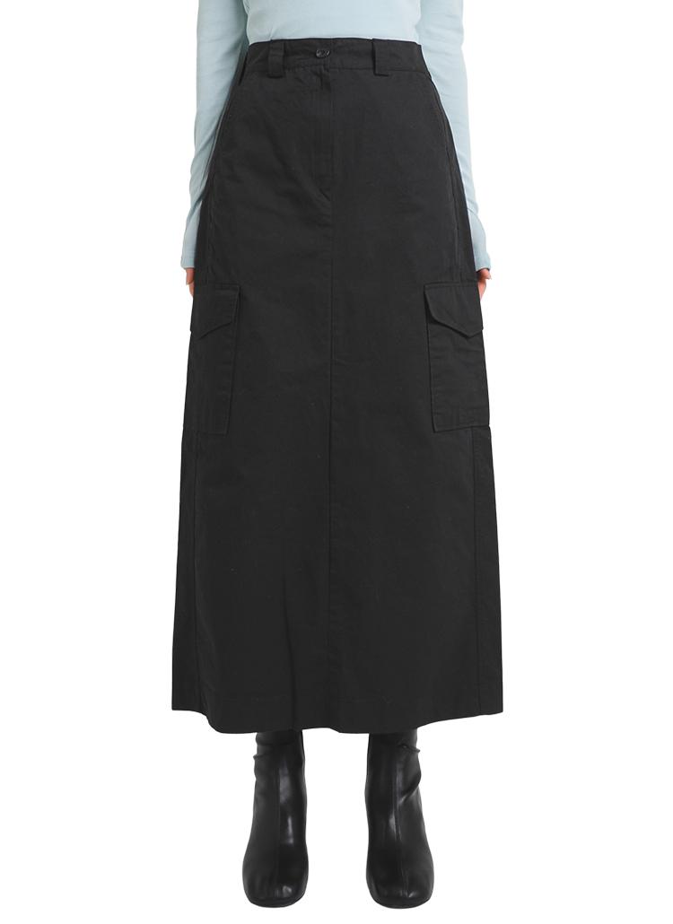フラップポケットロングAラインスカート