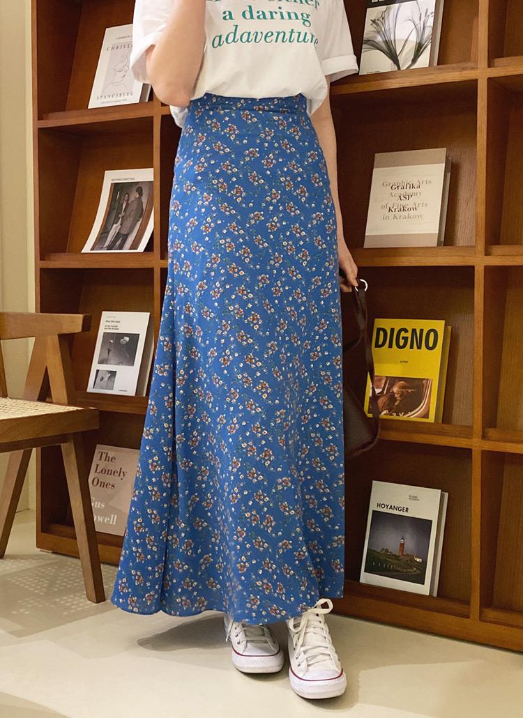 フローラルAラインスカート・全3色