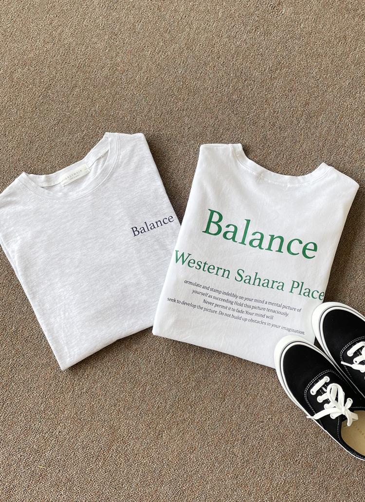 BalanceボクシーTシャツ・全2色