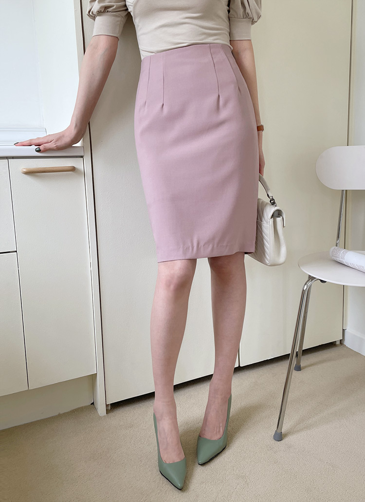 Hラインミディスカート・全4色