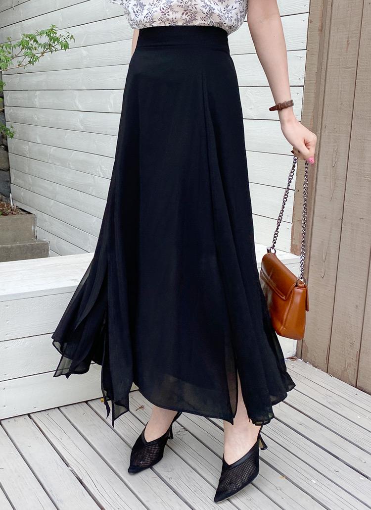 Aラインスリットスカート・全4色