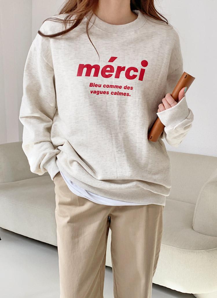merciルーズスウェット