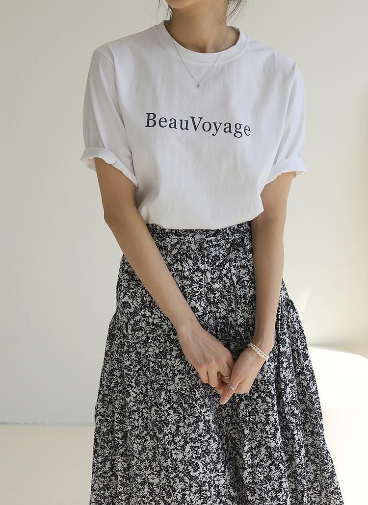 BeauレタリングTシャツ