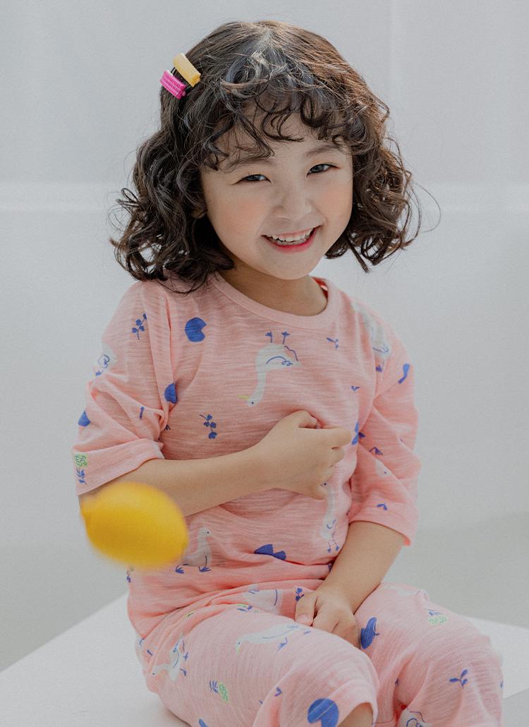 ダックパジャマ上下SET(pink)