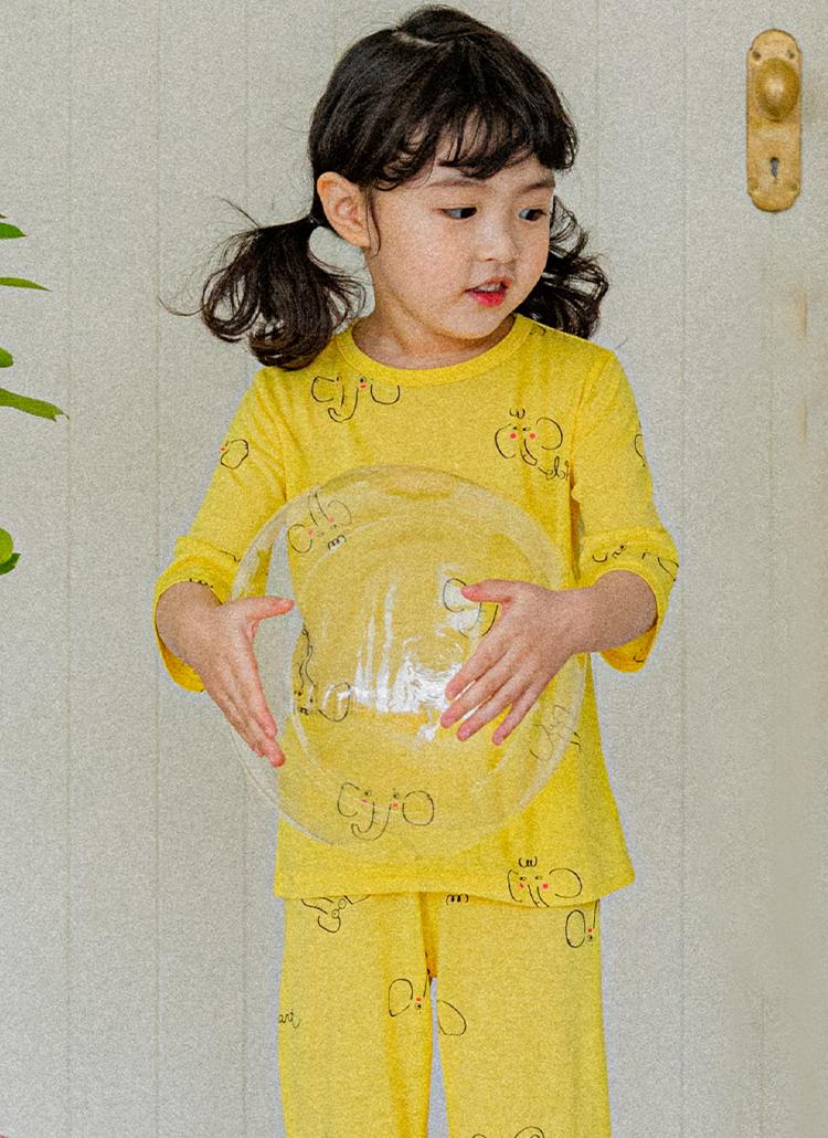 エレファントパジャマ上下SET(yellow)