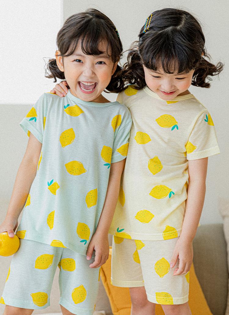 レモンパジャマ上下SET(mint)