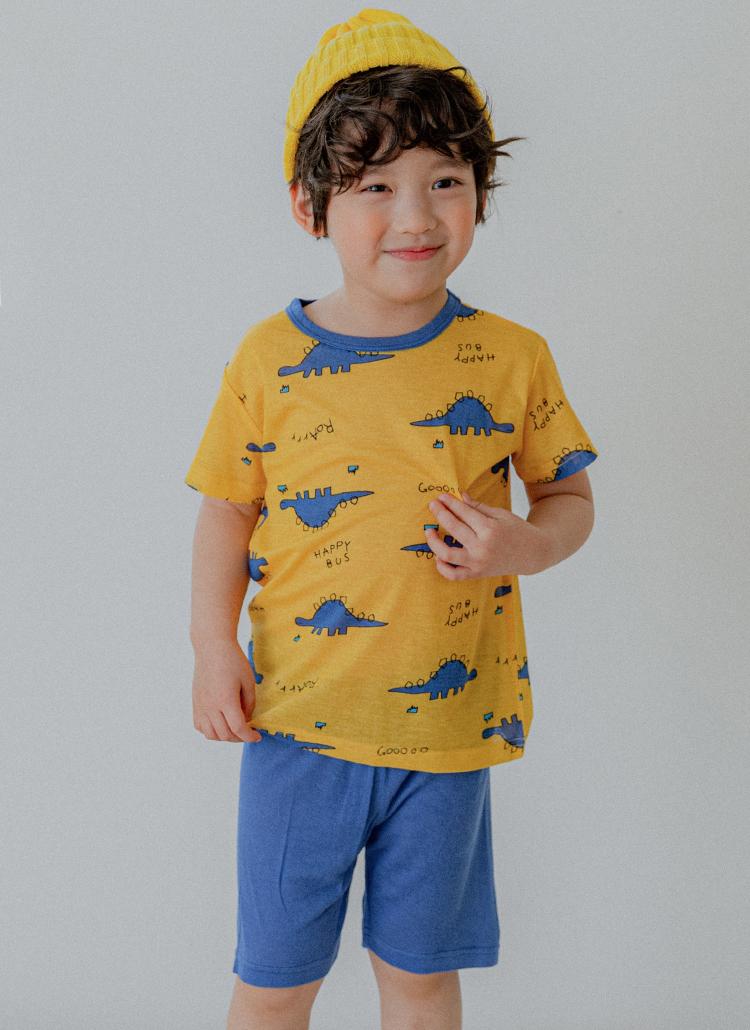 ダイナソーモダールパジャマ上下SET(blue)