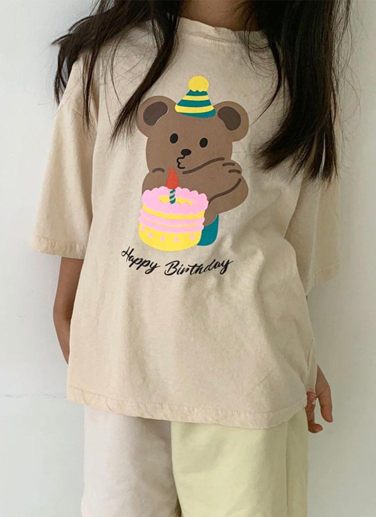 Birthdayベアー半袖Tシャツ