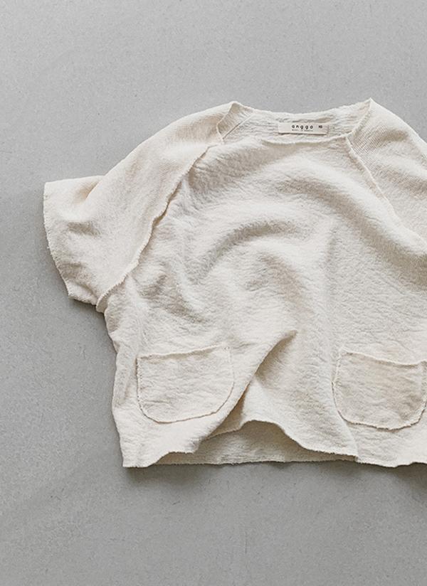 ツーポケカットオフ半袖Tシャツ
