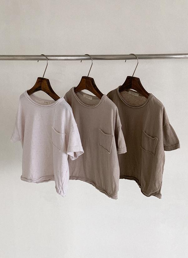 ワンポケリネン混半袖Tシャツ