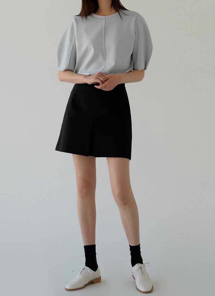 コットンミニ丈スカート