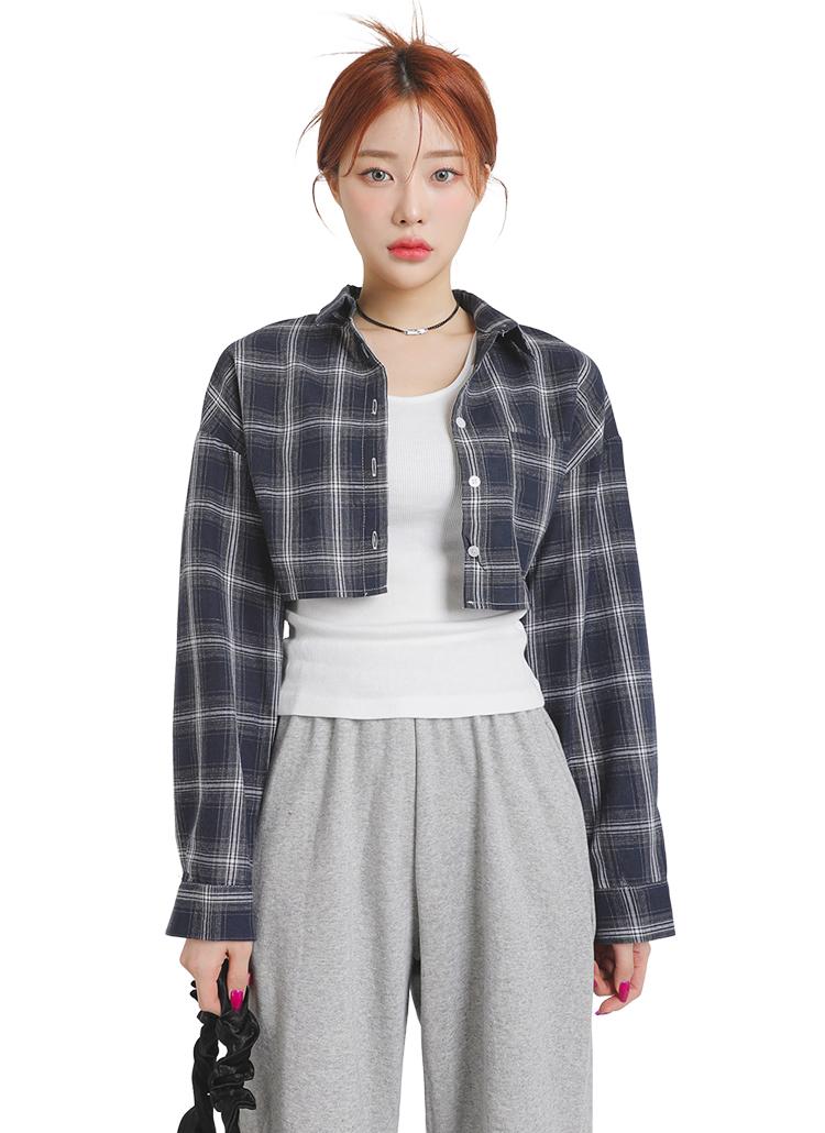 2TYPEショート丈シャツ