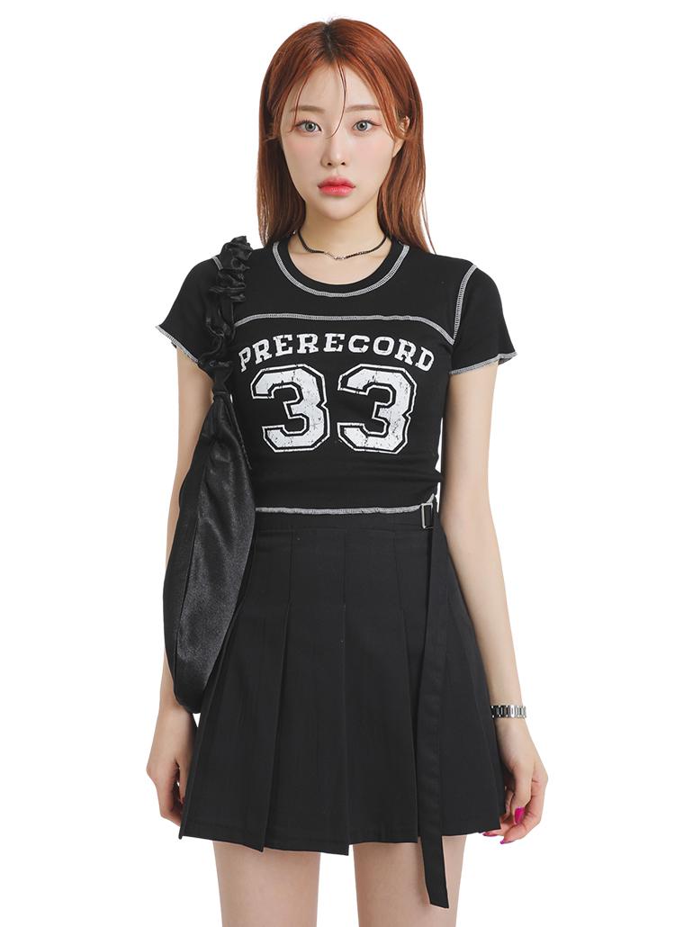 33ロゴアウトステッチTシャツ