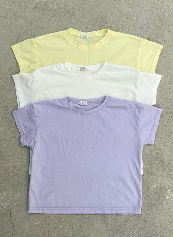 コットンパステル半袖Tシャツ(junior)