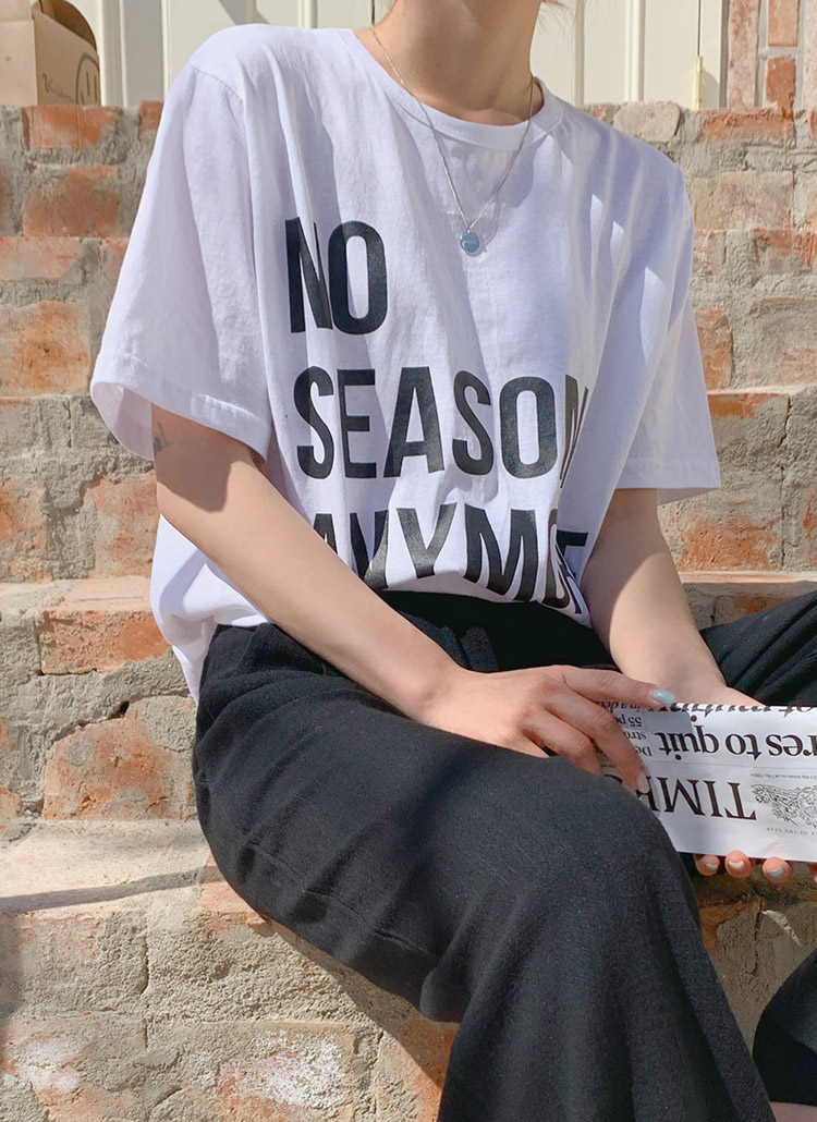 NO配色レタリング半袖Tシャツ