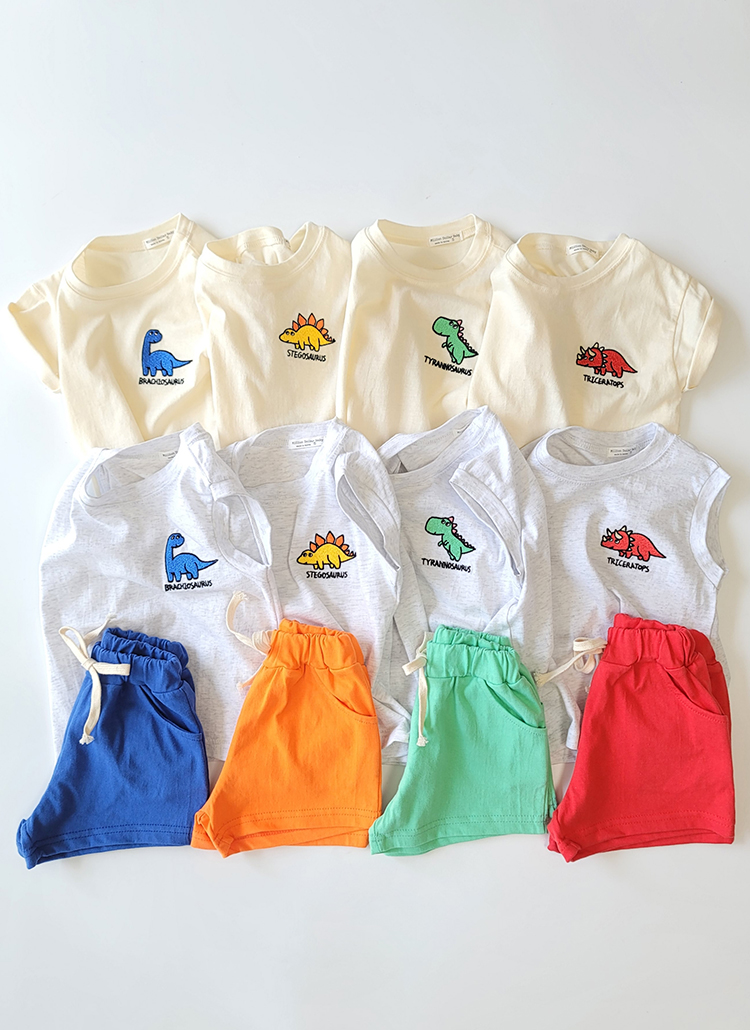 恐竜タンクトップ&Tシャツ&パンツSET
