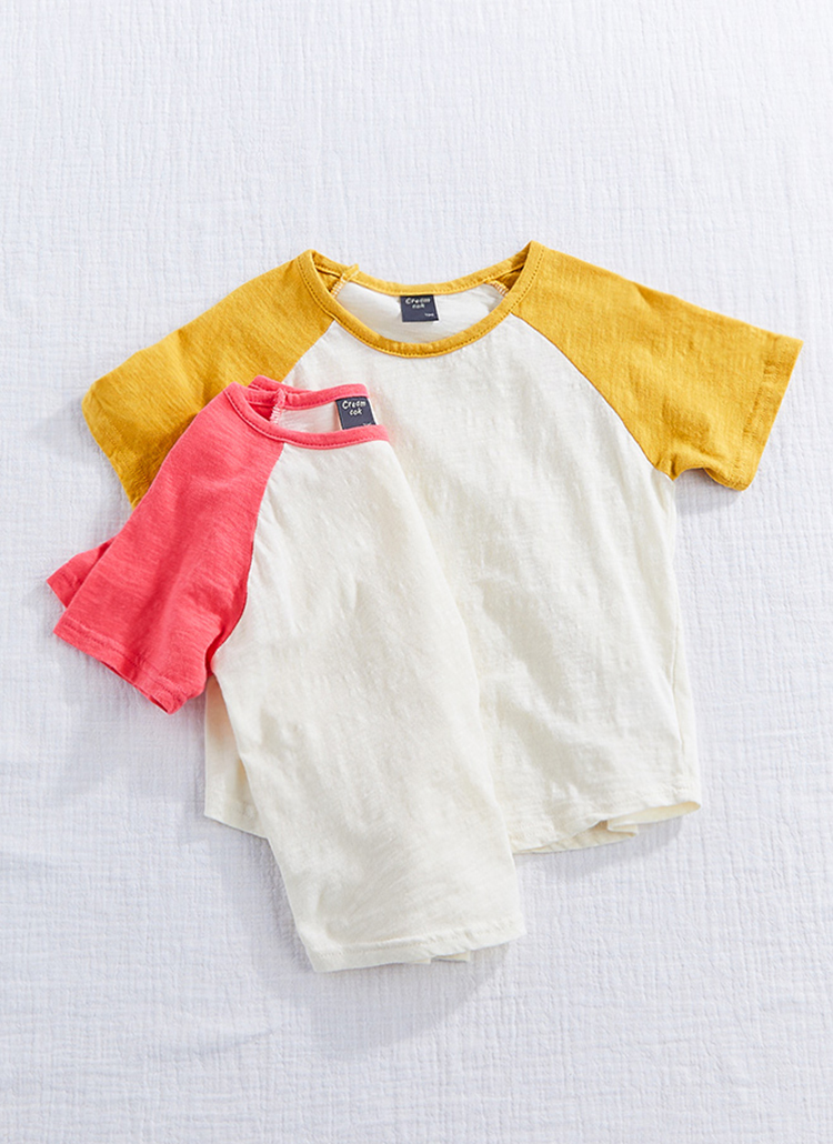 ラグランスリーブ半袖Tシャツ(kids)