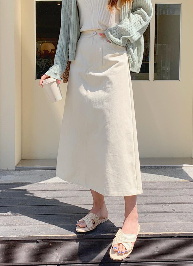 バックゴムAラインロングスカート
