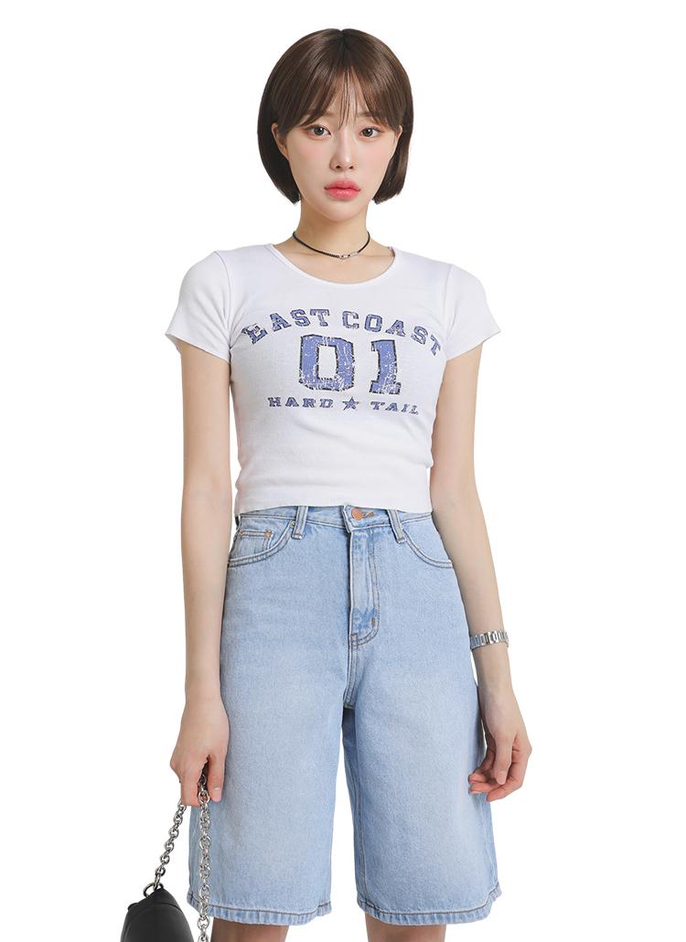 ビンテージプリントミニTシャツ