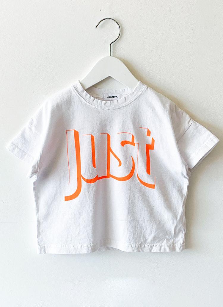 JUSTオーバーサイズ半袖Tシャツ(junior)