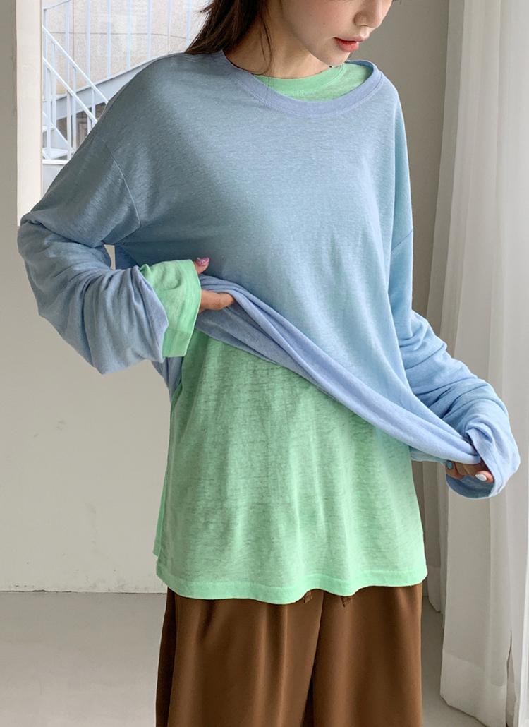 リネンブレンドTシャツ・全6色