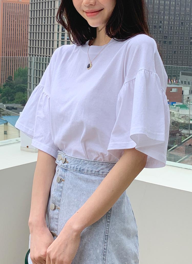 フレアスリーブTシャツ・全4色